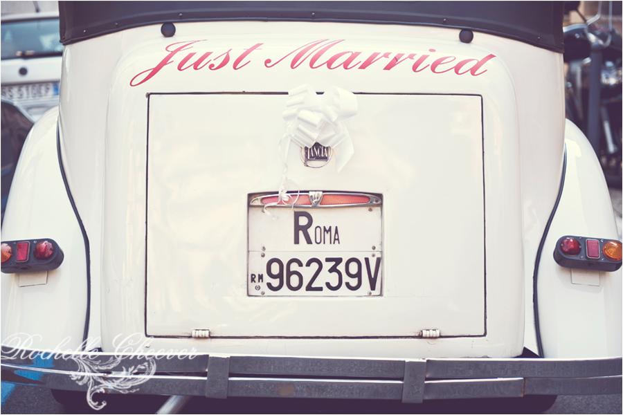 Lancia Vintage Rome Car   Italy Wedding Photographer