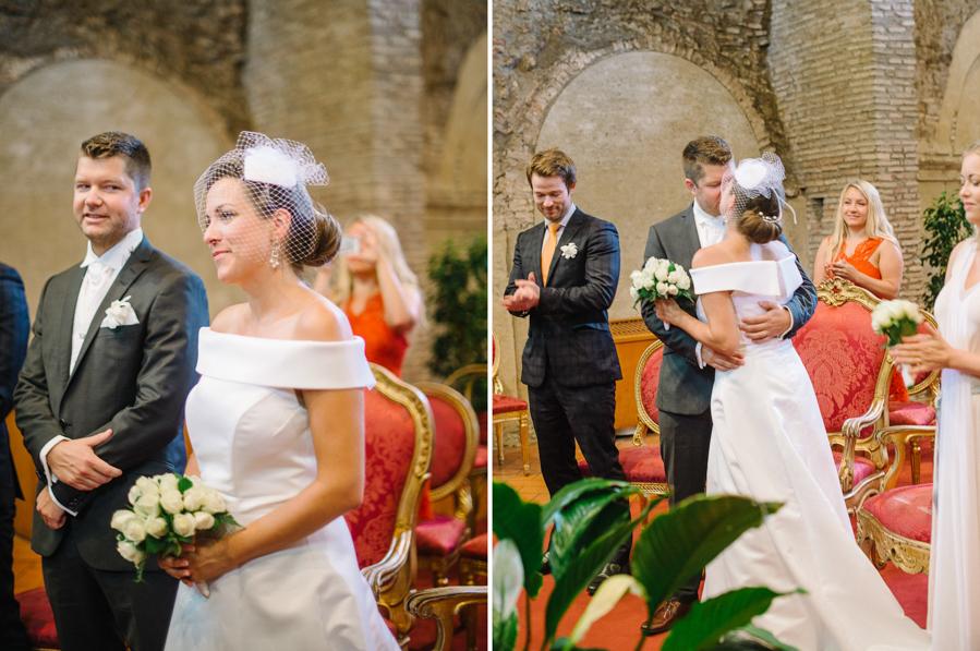 Rome Elopement | Caracalla Hall Civil Wedding
