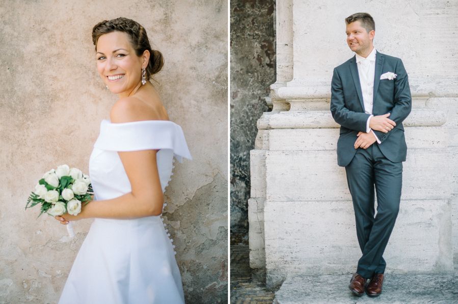 Destination Wedding Photography | newly weds in Rome